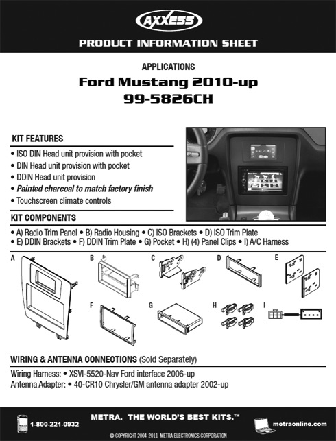 New Metra Kit - Ford Mustang
