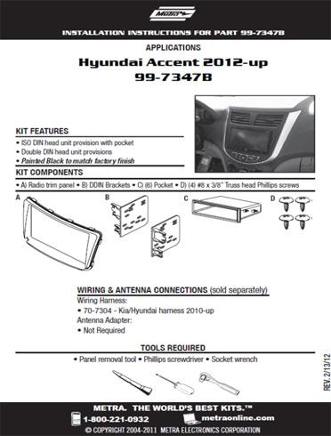 New Metra Kit - Hyundai Accent
