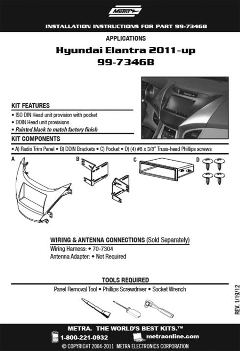 New Metra Kit - Hyundai Elantra